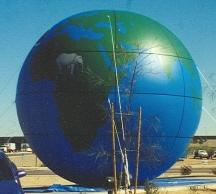 globe cold-air inflatable balloon